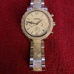 Silver & Pearl watch